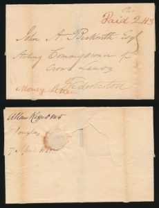 Lot 673, 1832-1866 Group of three New Brunswick Registered covers, sold for C$1,638