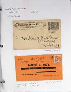 Lot 676, Collection of Lunenburg County postal history, 156 covers, sold for C$731
