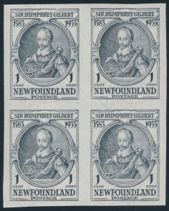Lot 366, Newfoundland 1933 Sir Humphrey Gilbert Issue advanced mint collection, sold for C$789