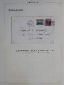 Lot 733, Newfoundland group of 23 covers franked with 1923-24 Pictorial Issue, sold for C$789